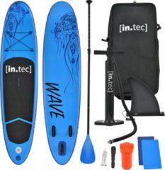 In.tec Opblaasbaar SUP board met accessoires blauw met patroon