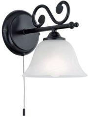 Witte EGLO Murcia Wandlamp - 1 Lichts - Zwart - Wit