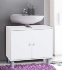 Bad Unterschrank Waschtisch Waschbecken Badschrank Regal Möbel Wascho Weiß 55 x 60 x 32 cm VCM Weiss-Weiss