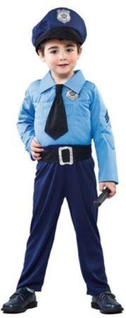 Afbeelding van Blauwe Merkloos / Sans marque Politiemannetje (105-121cm)