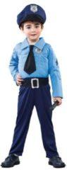 Blauwe Merkloos / Sans marque Politiemannetje (105-121cm)