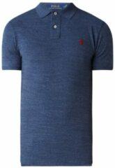 Blauwe Ralph Lauren Custom Slim fit polo met logoborduring