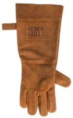 FDBW Leren Handschoen Barbecue Licht Bruin / Cognac | BBQ Lederen Handschoen Rechts | Vaderdag Kados | Hittebestendige BBQ & Oven handschoen – Extra groot voor betere bescherming | Gevoerd |