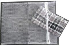 ARO houseware Emsa Wasnet - Wit - met Rits - 40 x 50 cm - 4 stuks