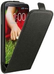 Zwarte Cellular Line Flipcase Essential Leder Lg G2