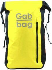 Gele Gabbag Reflective Waterdichte Rugzak 35L neon backpack
