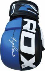 RDX Sports Sparringhandschoenen REX Blauw T6 - Maat: L - Leer