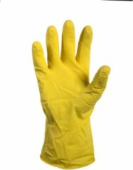 ComFort Handschoen Rubber latex - Huishoud handschoenen M - geel -12 stuks