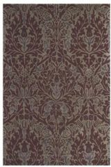 Beige Morris & Co - Laagpolig vloerkleed Morris & Co Autumn Flowers Plum 27500 - 170x240 cm