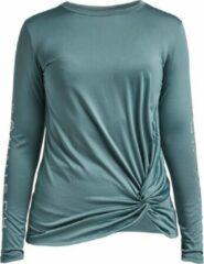 Rohnisch Röhnisch Trainingshirt Knot Dames Polyester/elastaan Groen Maat Xs