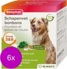 Beaphar Schapenvetbonbons Zeewier - Hondensnacks - 6 x Medium