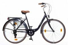 Amigo Style - Damesfiets 28 inch - Fiets met 6 versnellingen - Zwart