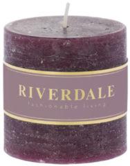 Paarse Riverdale NL Geurkaars Pillar dark burg 7.5x7.5c