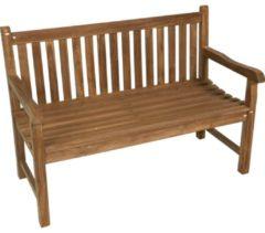 Bruine Lesliliving Teak houten tuinbank, tuinmeubel, bank, zitbank - 130cm