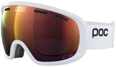 Witte POC Fovea Clarity Skibril - Hydrogen White/Spektris Orange Fovea Clarity