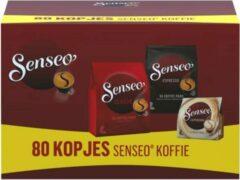 Senseo Koffiepads Variatiepakket - Classic, Espresso en Cappuccino - voor in je Senseo® machine - proefpakket met meerdere smaken - 80 pads