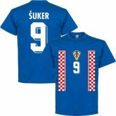 Retake Kroatië Suker 1998 Retro T-Shirt - Blauw - M
