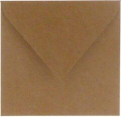 Paper For Moments 100x luxe wenskaartenveloppen vierkant 140x140mm - 14x14 cm - 110 grams bruin kraft (100% recycled)