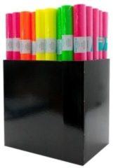 3x Kaftpapier folie schoolboeken neon roze 3 meter
