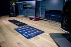 InsideAudio Logic Pro X muismat met shortcuts - blauw/studio