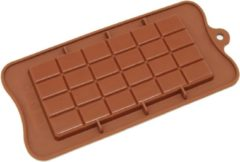 SuperEasyCommerce Siliconen Chocoladereep Mal / Bakvorm - Zelf chocolade maken - Bruin - SEC