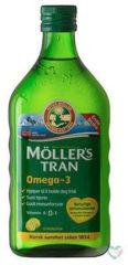 Mollers levertraan citroen (1 Flesje van 250 ml)