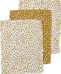 Gouden Meyco 3-pack washandjes Cheetah - honey gold