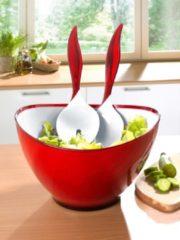 3tlg. Salatset 'Wing' Esmeyer rot/weiß
