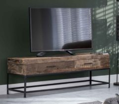 Zaloni Tv-meubel Lodge 135 cm breed in massief gerecycled hout