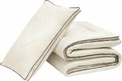 Witte Hibboux Harmony Wool dekbed 200x200 wollen dekbed