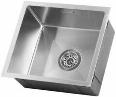Roestvrijstalen LOMAZOO Spoelbak Keuken Oberon 45/40 – Spoelbakken Keuken – Wasbak Keuken - RVS