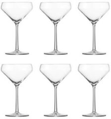 Transparante Schott Zwiesel Pure Martiniglas 86 - 0.34 Ltr - 6 stuks