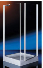 Plieger Royal hoekinstap met vaste zijwand 6 mm glas 87/90x185 cm, chroom