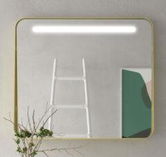 Muebles Polo spiegel met LED-verlichting 100x70cm goud