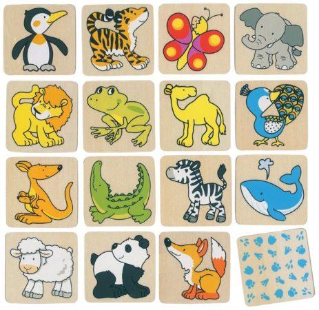 Afbeelding van Goki Geheugenspel wilde dieren 32 delig