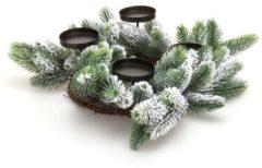 Fleurange Kiefernzweige-Kranz mit 4 Kerzenhaltern