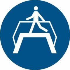 Blauwe Tarifold Pictogram bordje Verplichte oversteekplaats | Ø 300 mm - verpakt per 2 stuks