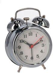 Orange85 Wekker - Analoog - Industrieel - Zilver - met Alarm