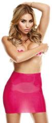 LATEXWEAR Latex Mini Rok Met Open Achterkant - Roze