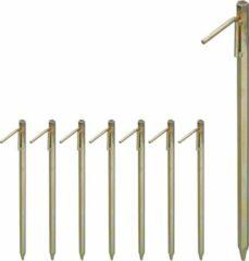 Gele Relaxdays 8 x grondpennen - grondanker - XXL - staal - rotspennen – tentharingen