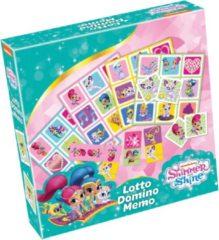 Tactic Shimmer and Shine 3-in-1 : Memo, Lotto, Domino Kaarten bij elkaar zoeken