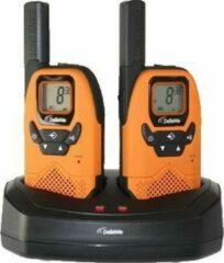 Oranje DeTeWe Outdoor 8000 Duo Case 208046 PMR-portofoon Set van 2 stuks