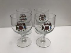 Hoegaarden bierglas set van 2 stuks 1x bekerglas 1 x grand cru voetglas bierglazen bier glas glazen