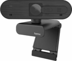 Zwarte Hama C-600 Pro Full HD-webcam 1920 x 1080 pix Klemhouder