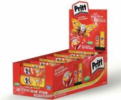 PRITT - Hobbylijm Kinderen - Colour & Glitter - Red & Yellow - Wasbaar - 24 Sticks Van 20g