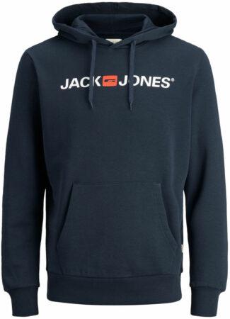 Afbeelding van Blauwe Jack & Jones - JJECORP OLD LOGO SWEAT HOOD NOOS - Navy Blazer - Mannen - Maat S