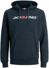 Blauwe Jack & Jones - JJECORP OLD LOGO SWEAT HOOD NOOS - Navy Blazer - Mannen - Maat S