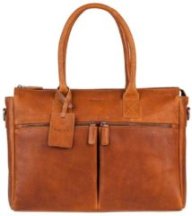 Burkely Leren damestas schoudertas ANTIQUE AVERY | LAPTOP 15.6'' Cognac