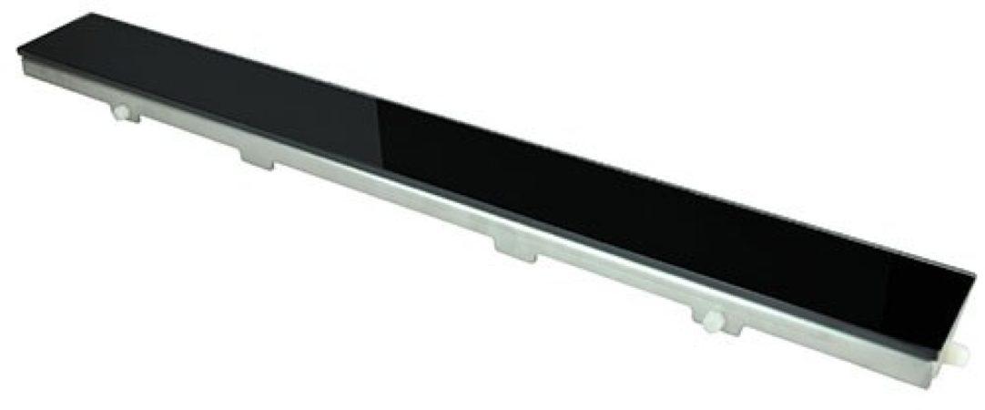 Afbeelding van Roestvrijstalen Praya DG Glasrooster zwart 500x70 tbv RVS douchegoot 33.4131