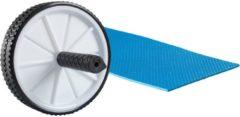 Zwarte VirtuFit Dubbel Buikspierwiel - Ab Roller - Ab Wheel - met Mat
